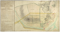 An Exact SURVEY of the LANDS necessary yo be purchased by the CROWN pursuant to an Act of PARLIAMENT for Erecting MAGAZINES and other Buildings at PURFLEET in the County of ESSEX.